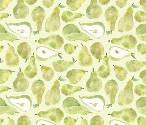 Puzzling Pears  fabric by kellie_jayne_ on Spoonflower - custom fabric