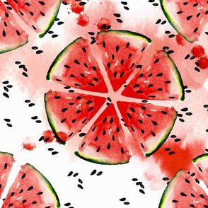 Watermelon watercolor pattern