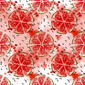 Watercolor Watermelon pattern
