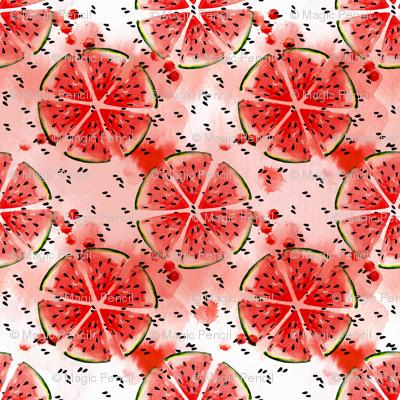 Watercolor Watermelon mandala