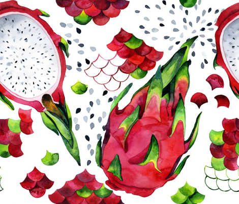 My sweet dragon fruit fabric by poulin on Spoonflower - custom fabric