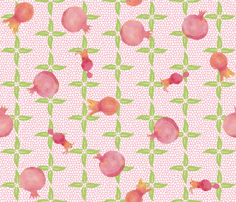 Pretty_In_Pink_Pomegranates fabric by sheila_marie_delgado on Spoonflower - custom fabric