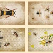 Bees - 4 different Tea Towel