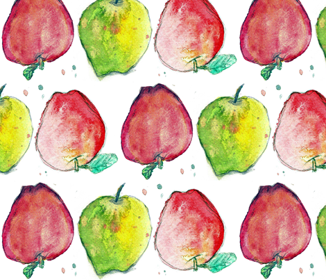 An Apple a Day fabric by laurakbray on Spoonflower - custom fabric