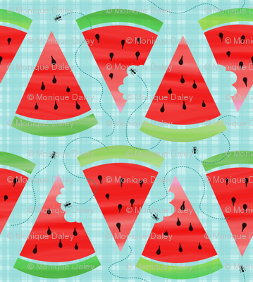 Watercolor Watermelon Picnic - Ant Invasion