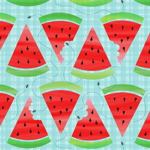 Watercolor Watermelon Picnic - Ant Invasion
