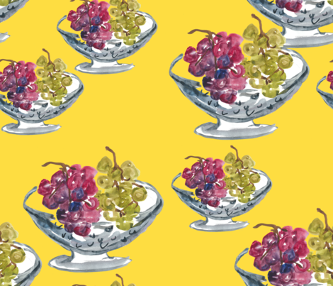 Grapes_in_colander fabric by datstudio on Spoonflower - custom fabric