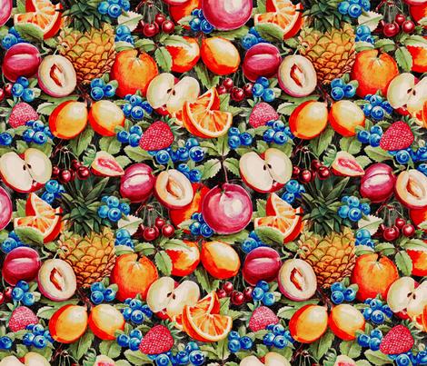 Watercolour Fruit Pattern fabric by meganpalmer on Spoonflower - custom fabric