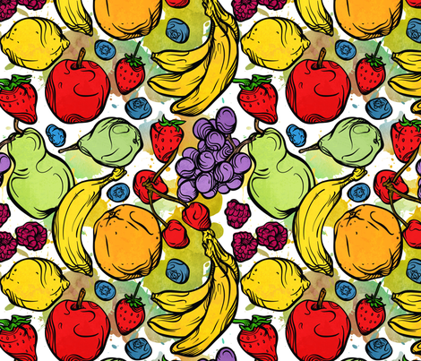 Whimsical_Fruit fabric by malibu_creative on Spoonflower - custom fabric