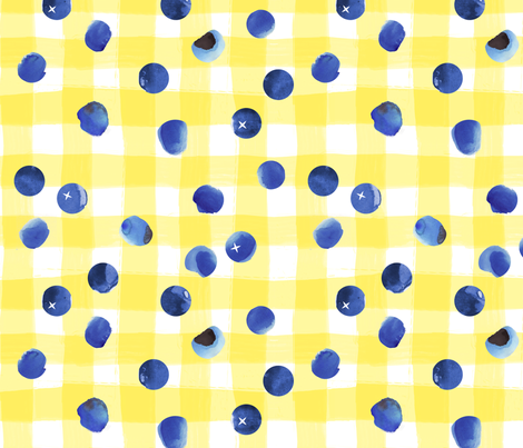 Blueberries for Breakfast fabric by jenimp on Spoonflower - custom fabric