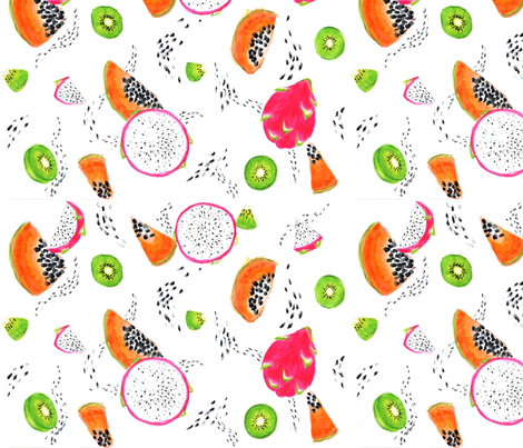 Tropical Dots fabric by jawpress on Spoonflower - custom fabric