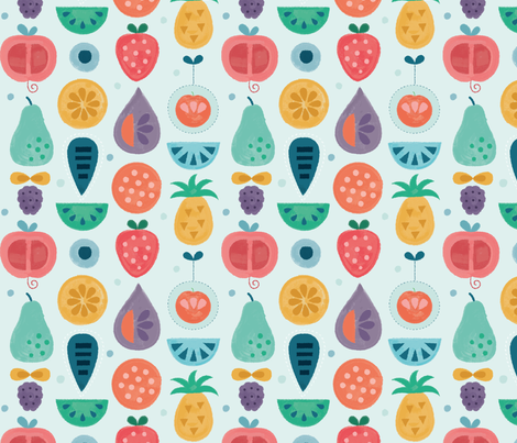 fruits fabric by la_fabriken on Spoonflower - custom fabric