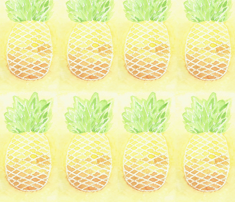 Pineapple Sunset fabric by papilloca_ on Spoonflower - custom fabric