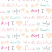 Auntie Love - peach blossom SMALL906