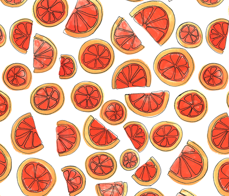 Blood Orange fabric by bashfulbirdie on Spoonflower - custom fabric