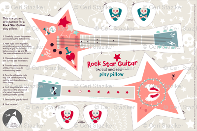 Rock Star Guitar play pillow