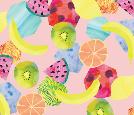 Fruit_Salad fabric by ivydoodlestudio on Spoonflower - custom fabric