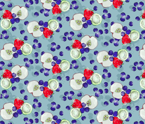 fruits_silouette3_050817 fabric by lique_studio on Spoonflower - custom fabric