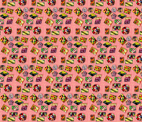 skillshare_summer_fruit fabric by quizzicalkittydesigns on Spoonflower - custom fabric
