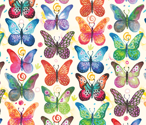 colorful butterflies  fabric by camcreative on Spoonflower - custom fabric