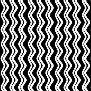 Playful Patterns - Wavy Stripes Coord Black