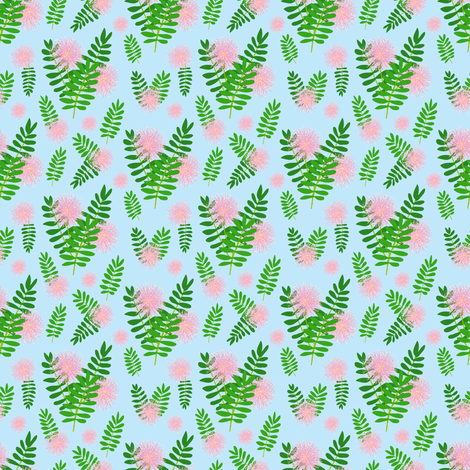 Mimosa fabric by stewsha on Spoonflower - custom fabric