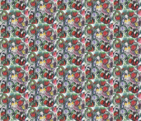 Red fruit fabric by kmarch on Spoonflower - custom fabric