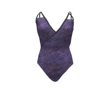 Periwinkle purple waves