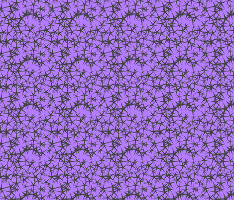 Thorns (grey on purple) fabric by chiral on Spoonflower - custom fabric