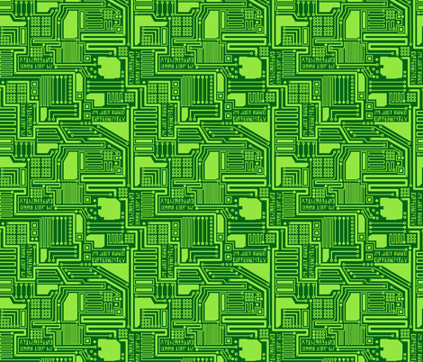 Im Just Wired Differently Green fabric - wickedrefined - Spoonflower