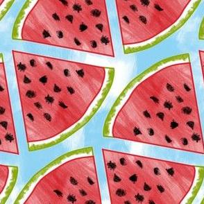 Watercolor Watermelon (diagonal)