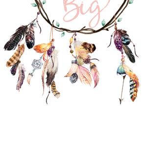 """42""""x72""""  Wild & Free / Dream Big Dreamcatcher"""