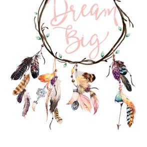 """56""""x72"""" Wild & Free / Dream Big Dreamcatcher"""