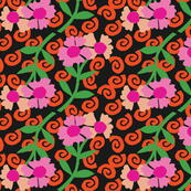 S_Snails_FlowersBlk