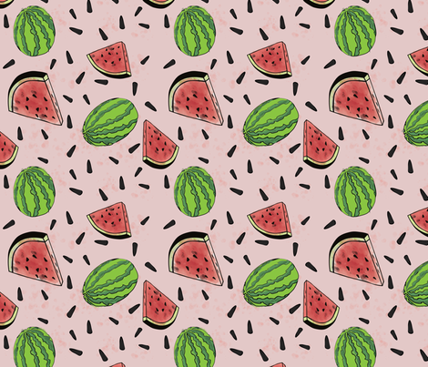 Watermelon Party fabric by twyfie on Spoonflower - custom fabric