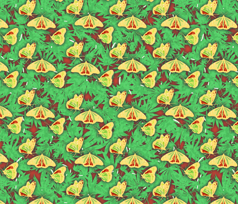 Rasta Butterflies fabric by camomoto on Spoonflower - custom fabric