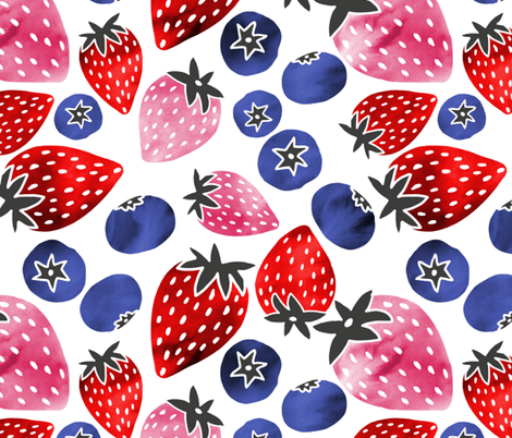 Berry Smoothie fabric by pinky_wittingslow on Spoonflower - custom fabric