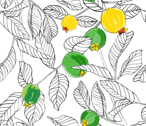 Summertime_Guavas fabric by wink&smile on Spoonflower - custom fabric