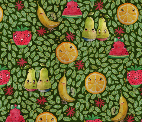 Whimsical Fruitty fabric by grace_andersson on Spoonflower - custom fabric