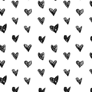 Ink doodle hearts