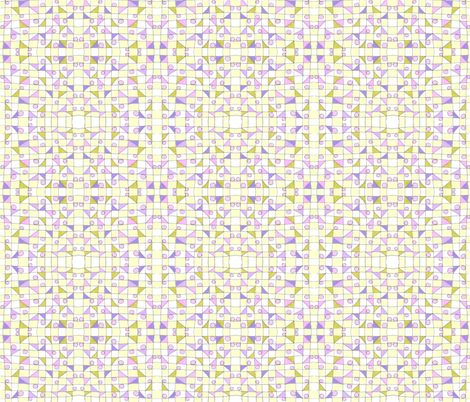 Yellow Check Grid fabric by unclemamma on Spoonflower - custom fabric