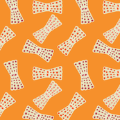 dotted bows orange