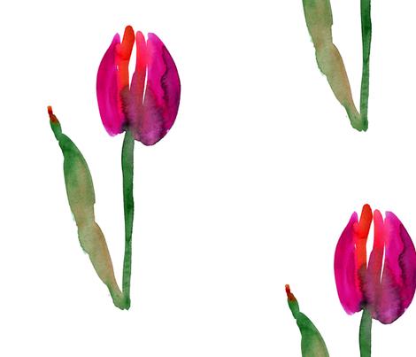 cestlaviv_tulip_no1saturated fabric by cest_la_viv on Spoonflower - custom fabric