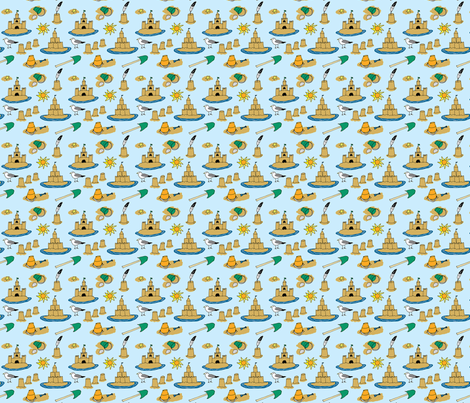 Mini Sandcastles fabric by eileenmckenna on Spoonflower - custom fabric