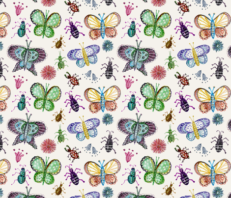 Nature's jewels fabric by rachelmacdonald on Spoonflower - custom fabric