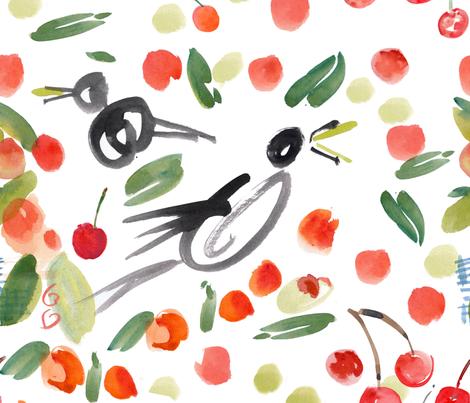 cestlaviv_SqUaWk!_cherrytree fabric by cest_la_viv on Spoonflower - custom fabric