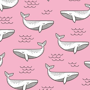 Whales on Pink