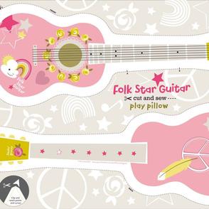 Folk Star Guitar play pillow