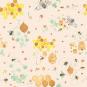 Whimsical Honey Bees