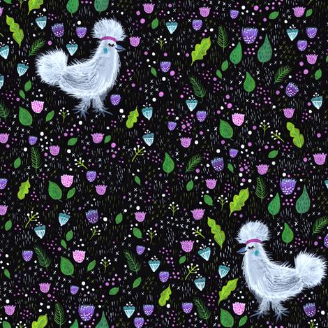 Glam Chicken fabric by jacquelinehurd on Spoonflower - custom fabric